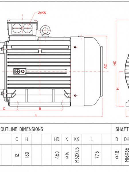 Motor electric trifazat 30kw 1400rpm 180 B3