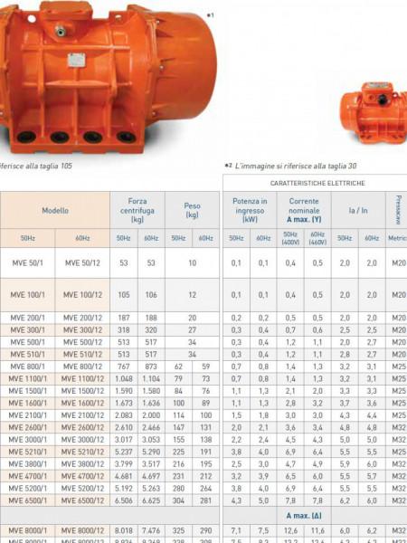 Motor vibrator trifazat MVE 1100/1