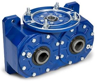 Reductor melcat cu iesire dubla tip VI 135 i=40 80 23rpm Nm158 H=28  1.2kw 900rpm