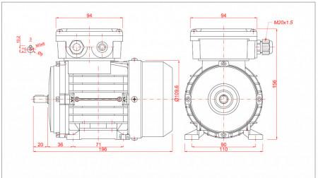 Motor electric monofazat 0.05kw 1000rpm 56 B3