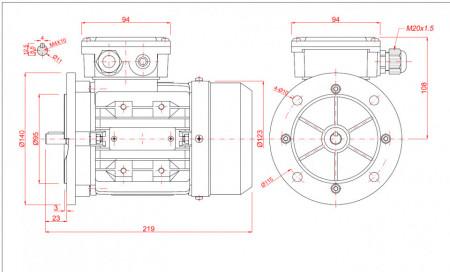 Motor electric monofazat 0.12kw 1000rpm 63 B5