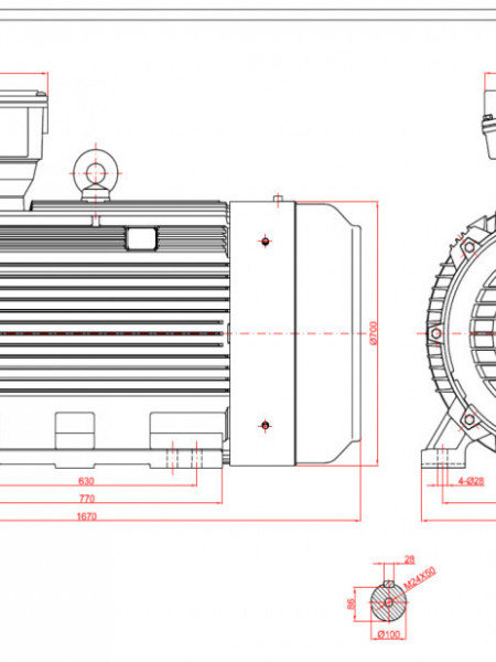 Motor electric trifazat 160kw 750rpm 355 B3