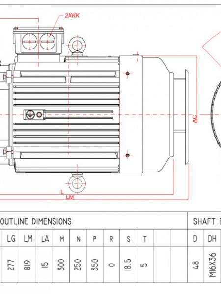Motor electric trifazat 18.5kw 1400rpm 180 B5