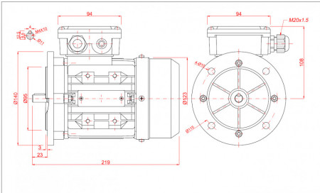 Motor electric monofazat 0.18kw 3000rpm 63 B5