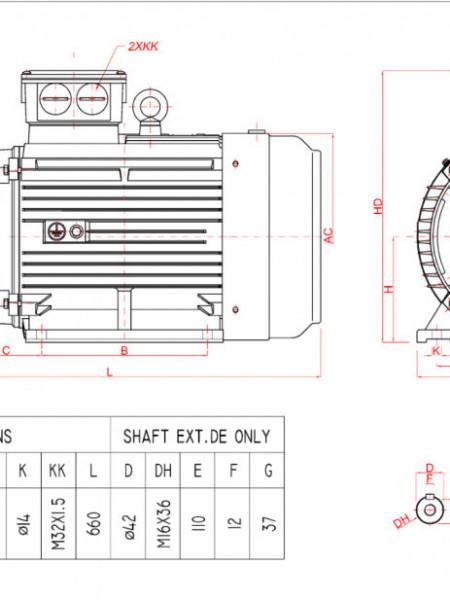 Motor electric trifazat 18.5kw 1400rpm 160 B3