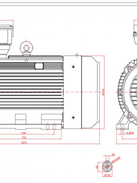 Motor electric trifazat 315kw 1400rpm 355 B3