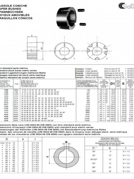 Bucsa conica BC1108-25mm - 0.08kg