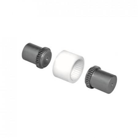 Cuplaj elastic dintat cu manson de poliamida butuc scurt