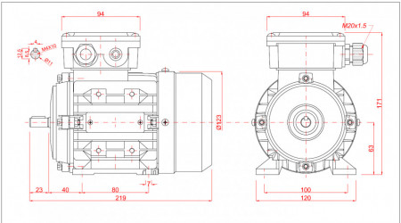 Motor electric monofazat 0.18kw 3000rpm 63 B3