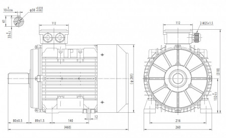 Motor electric trifazat 5.5kw 1000rpm 132 B3