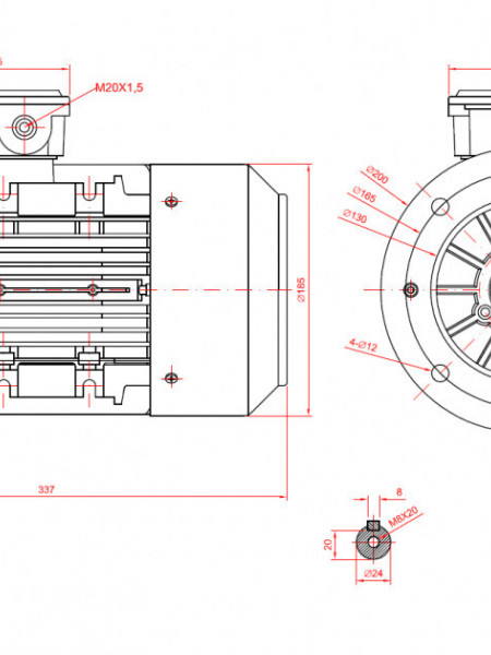 Motor electric monofazat 1.5kw 3000rpm 90 B5