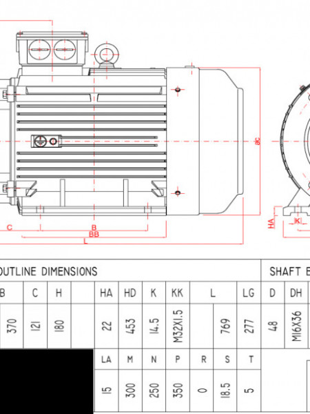 Motor electric trifazat 18.5kw 1000rpm 180 B3