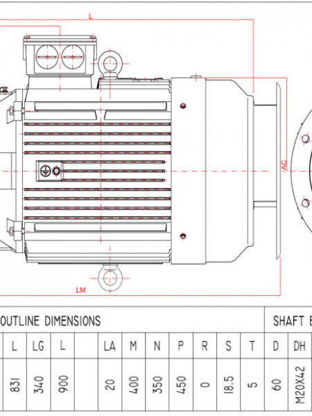 Motor electric trifazat 18.5kw 750rpm 225 B5