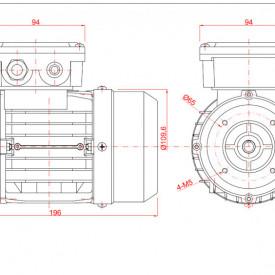 Motor electric monofazat 0.05kw 1000rpm 56 B14