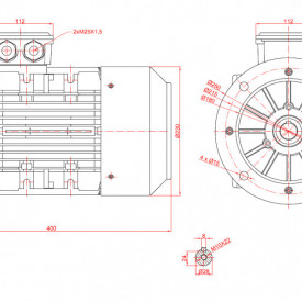 Motor electric monofazat 2.2kw 1000rpm 112 B5