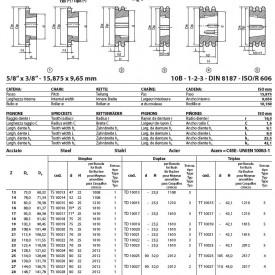 Pinion cu butuc 10B-1 (5/8x3/8) z=57 dinti BC2012 (14-50mm) otel