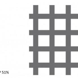 Tabla perforata otel 1x1000x2000mm C10 U14