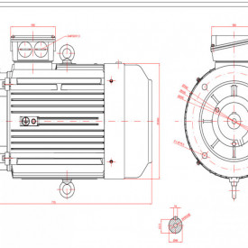 Motor electric trifazat cu doua viteze 6.3/4kw 1400/750rpm 160 B5