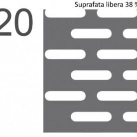Tabla perforata otel 1,5x1000x2000mm LR5x20mm - 20kg