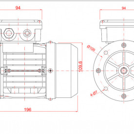 Motor electric monofazat 0.05kw 1000rpm 56 B5