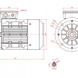 Motor electric monofazat 1.1kw 1400rpm 90 B5