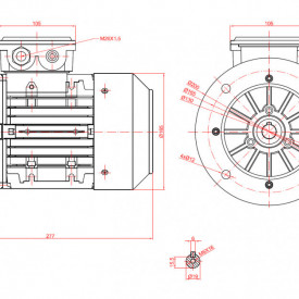 Motor electric monofazat 1.5kw 3000rpm 80 B5