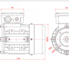 Motor electric trifazat 0.18kw 1400rpm 63 B14