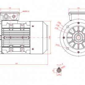 Motor electric trifazat 1.5kw 1400rpm 90 B5