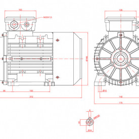 Motor electric trifazat 2.2kw 1400rpm 90 B3