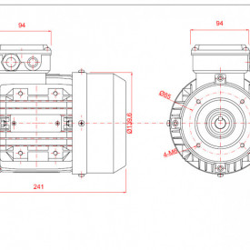 Motor electric trifazat cu doua viteze 0.44/0.3kw 3000/1400rpm 71 B14