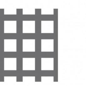 Tabla perforata zincata 2x1000x2000mm C10 U15