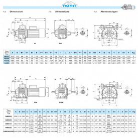 Variator mecanic de turatie tip N005 71B5 - 0.37kw 1400rpm - 1000/167rpm