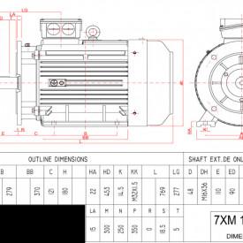 Motor electric trifazat 30kw 3000rpm 180 B3
