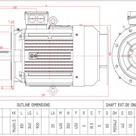 Motor electric trifazat 37kw 1400rpm 225 B5