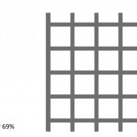 Tabla perforata inox Aisi 304 2x1000x2000mm C10 U12 - 30kg