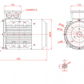 Motor electric trifazat 2.2kw 1400rpm 100 B14