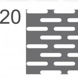 Tabla perforata otel 1x1000x2000mm LR4x20mm - 12kg