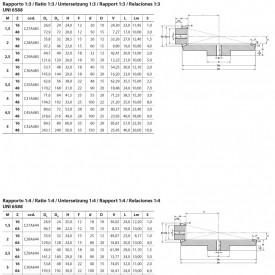 Grup conic tip A Modul 2.5 z=16/48 dinti raport 1/3 otel - 1.39kg