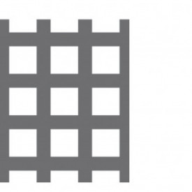 Tabla perforata zincata 2x1250x2500mm C10 U15