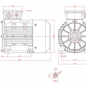 Motor electric trifazat 1.84kw 1400rpm 90 B3