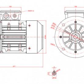 Motor electric trifazat 0.37kw 1000rpm 71 B5