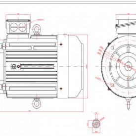 Motor electric trifazat 18.5kw 1400rpm 160 B5