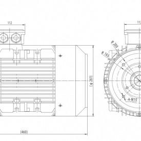 Motor electric trifazat cu doua viteze 5/3.8kw 1400/1000rpm 132 B14
