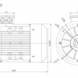 Motor electric trifazat cu doua viteze 9/6kw 1400/1000rpm 132 B5