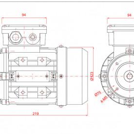 Motor electric monofazat 0.12kw 1400rpm 63 B14