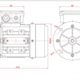 Motor electric trifazat 0.18kw 1400rpm 63 B5