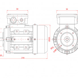 Motor electric trifazat 0.25kw 1400rpm 63 B14