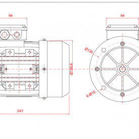 Motor electric trifazat 0.37kw 1400rpm 71 B5