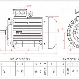 Motor electric trifazat 22kw 1400rpm 180 B3