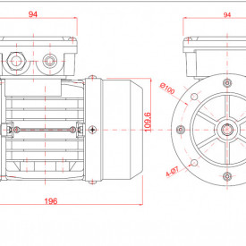 Motor electric monofazat 0.12kw 3000rpm 56 B5